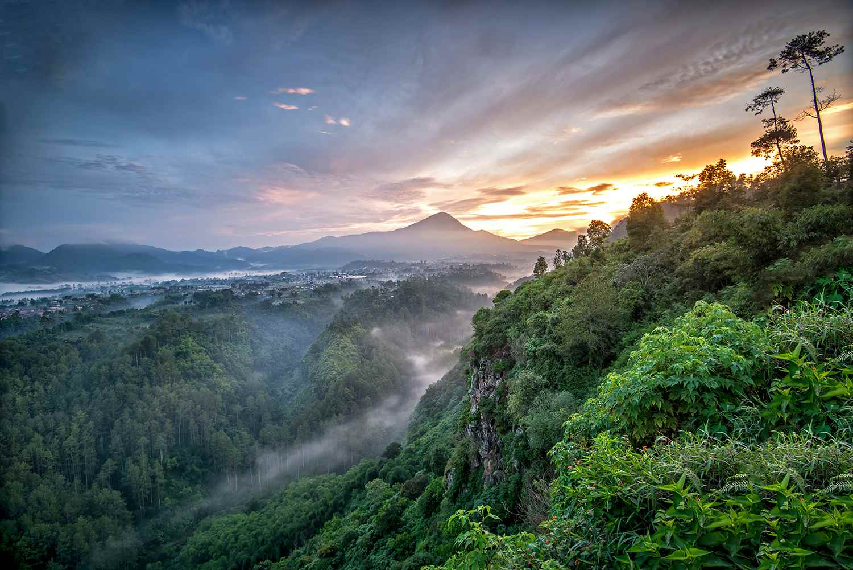 Sunrise at Terbing Keraton, North Bandung, West java, Indonesia