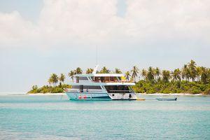 Scuba diving liveaboard boat, North Huvadhu Atoll, Maldives