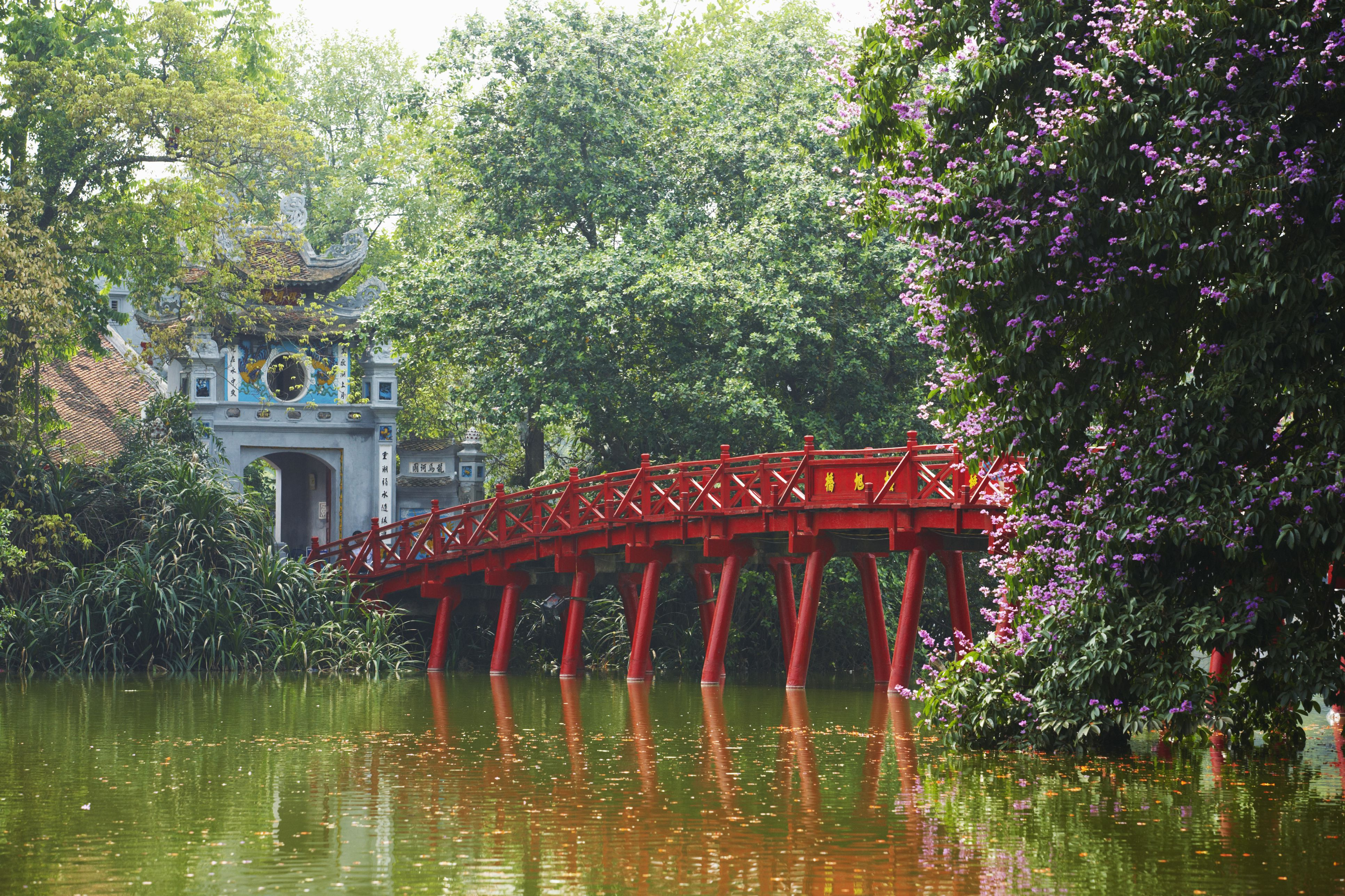 The Huc Bridge,Hoan Kiem Lake