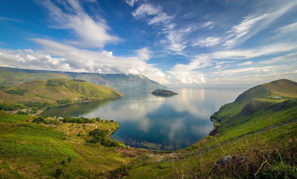 Good weather at Lake Toba in Sumatra