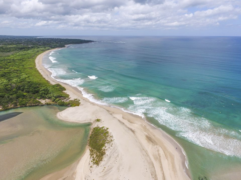 Aerial view of beach in Costa Rica