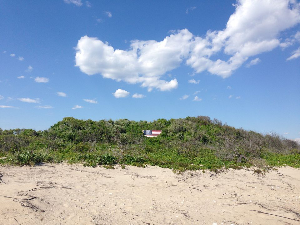 A private beach in Breezy Point, NY