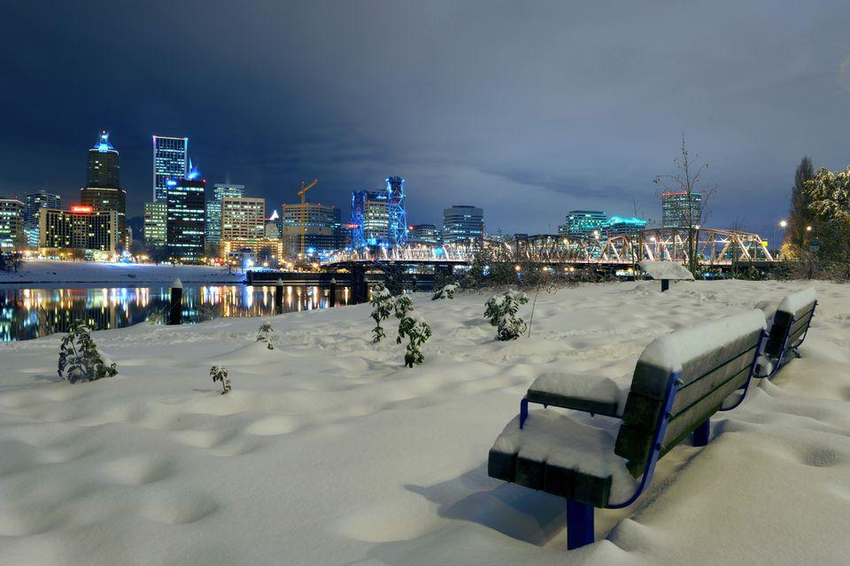 Winter in Portland, Oregon