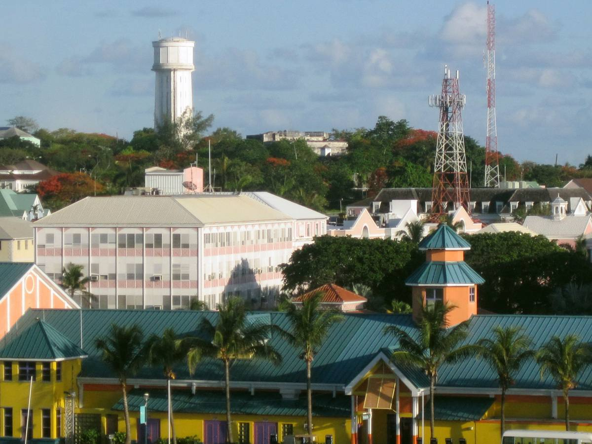 Downtown Nassau and the Nassau Water Tower