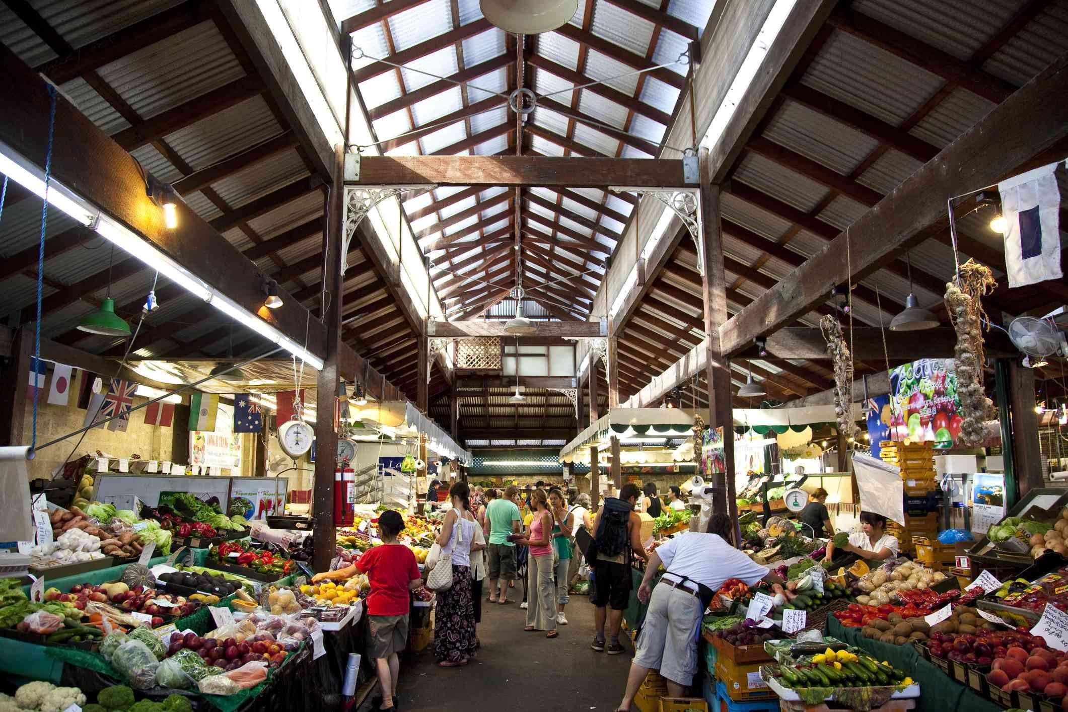 Interior of the Fremantle Markets