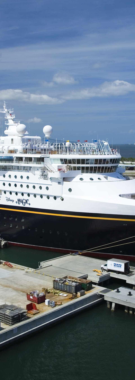 Disney Cruise Ship at dock, Port Canaveral.