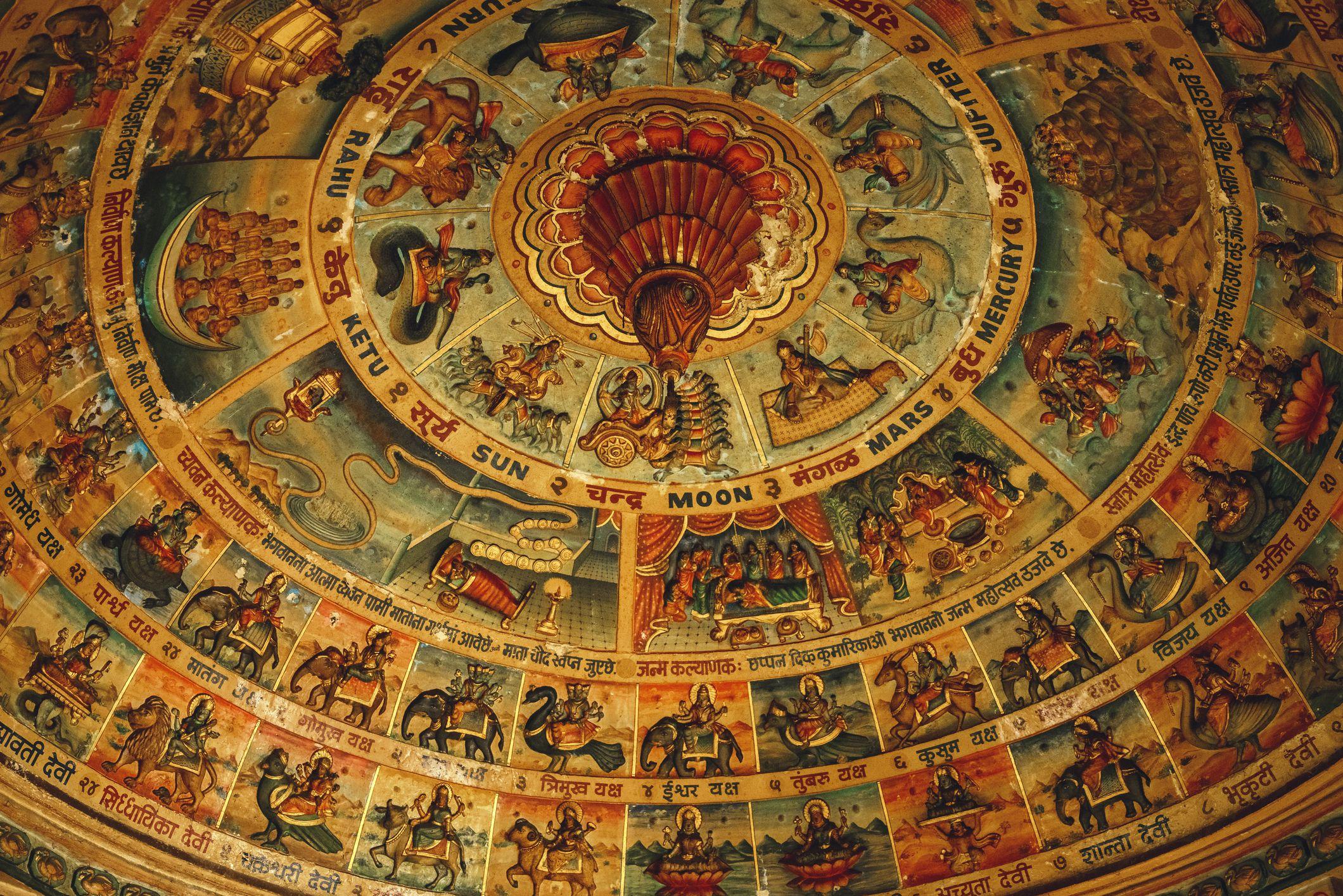 Jain temple ceiling.