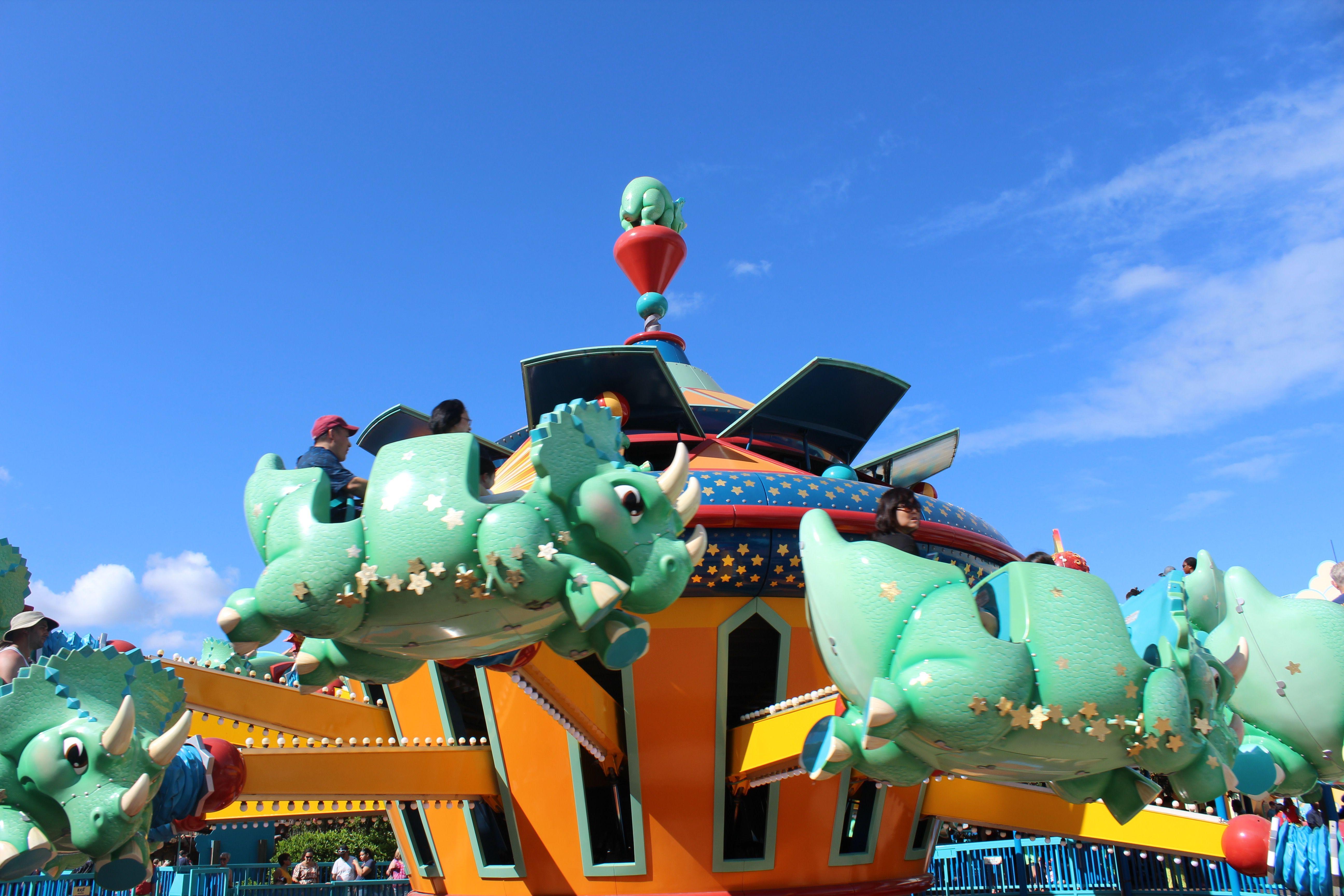 TriceraTop Spin ride at Disney's Animal Kingdom.