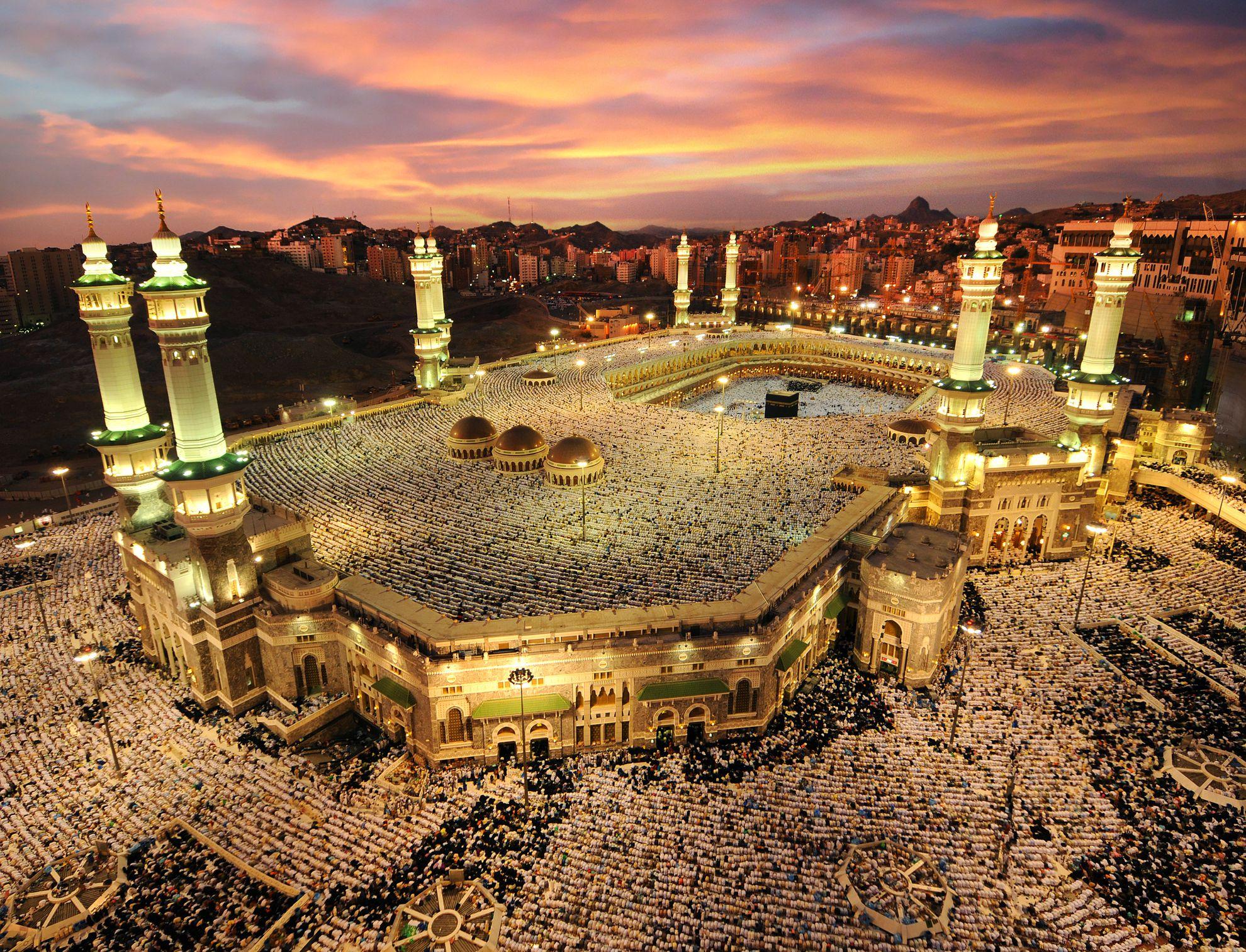 Una vista aérea de La Meca, Arabia Saudita