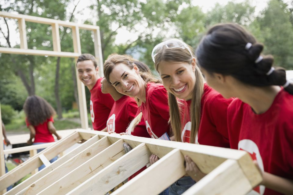 Volunteering to build a home