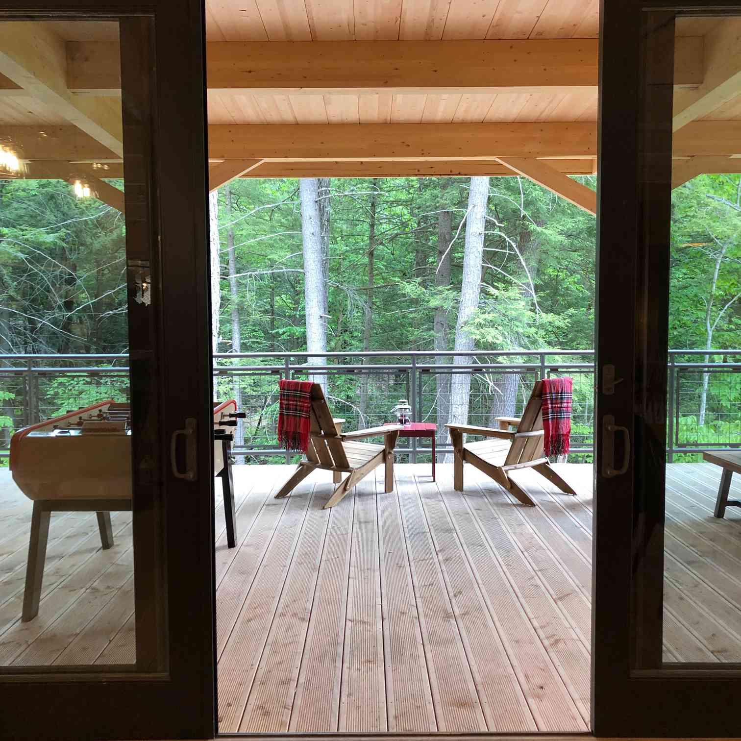 Huttopia Adirondacks main lodge