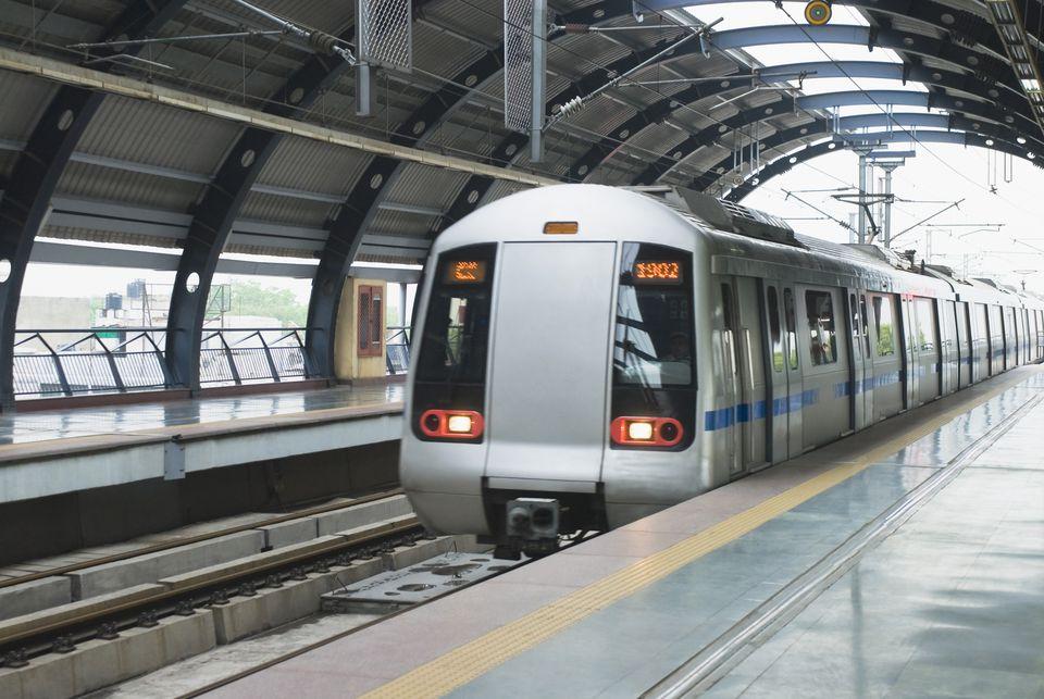 Delhi Metro train.