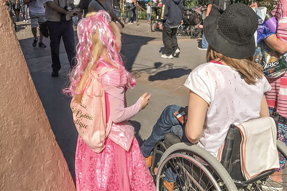 Woman Using a Wheelchair at Disneyland