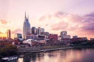 Nashville Skyline at Sunset