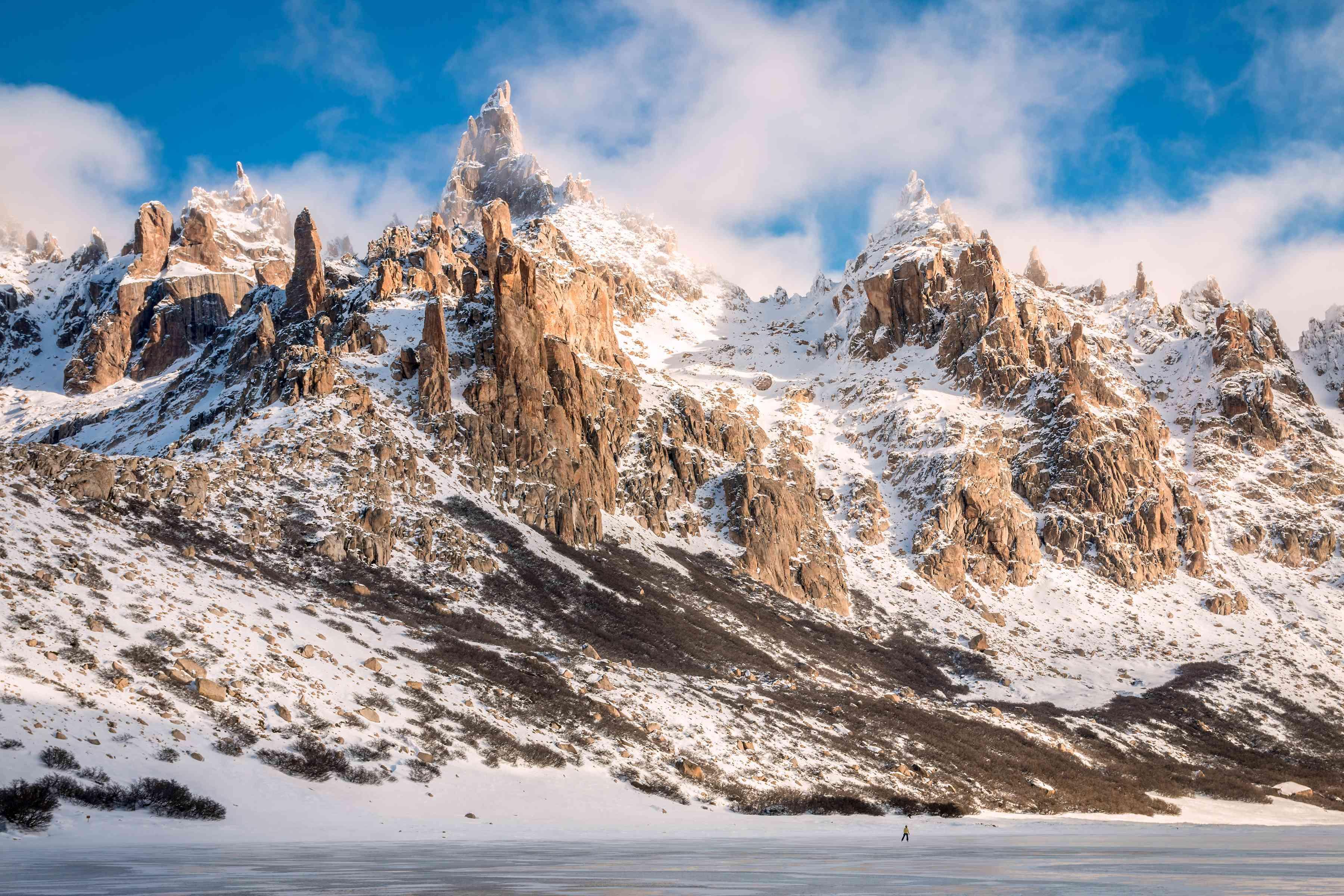 Frozen Lake at Refugio Frey