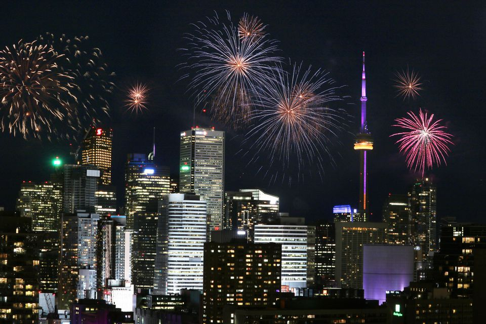 Victoria Day Fireworks in Downtown Toronto