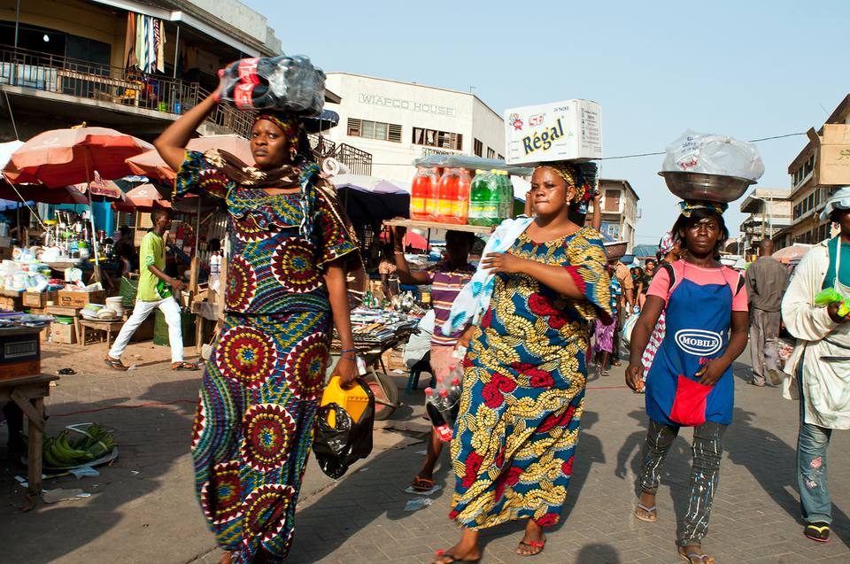 Women in a market in Africa