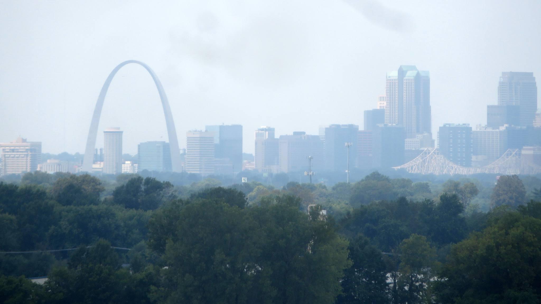 Monk's Mound view of St Louis