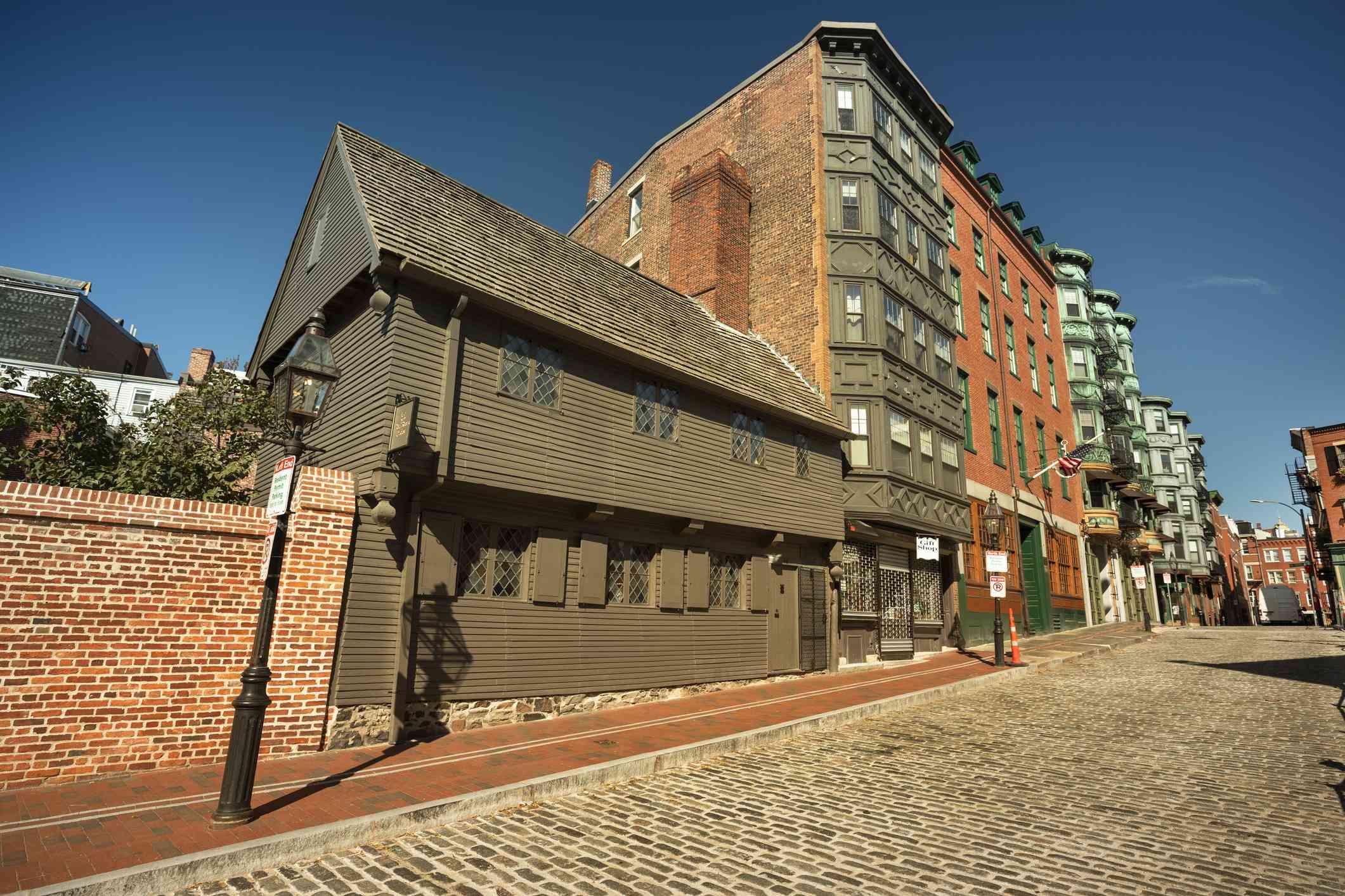 Casa Paul Revere en Boston, Massachusetts, EE. UU.