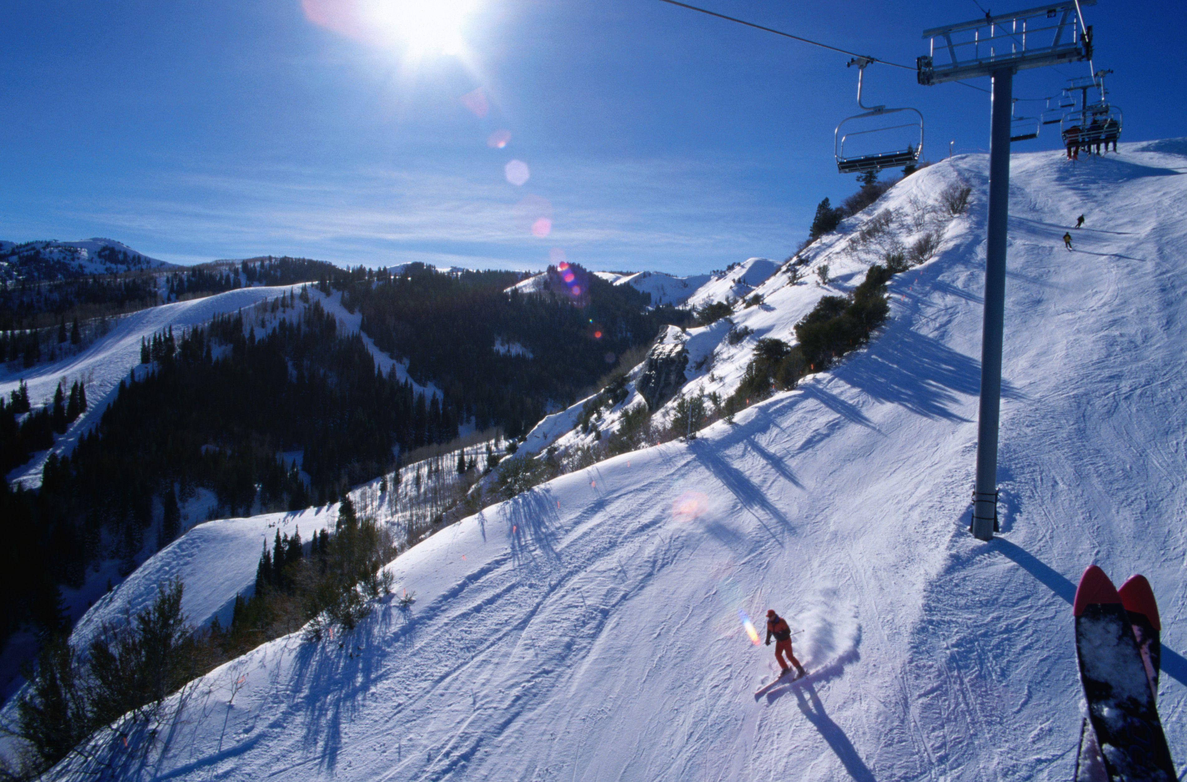 Skiing the Canyons at Park City.