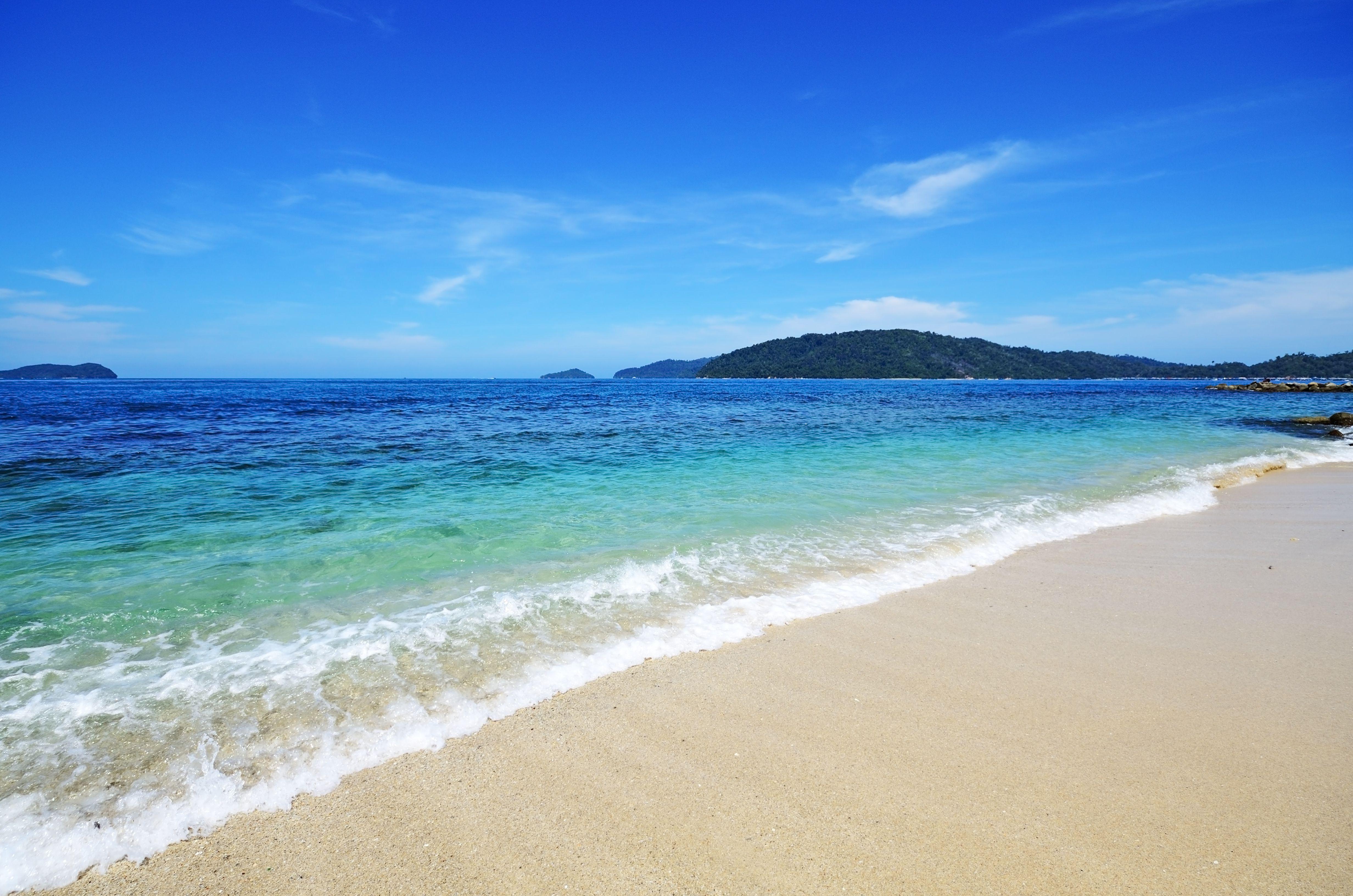 Playa en Kota Kinabalu, Sabah Borneo, Malasia