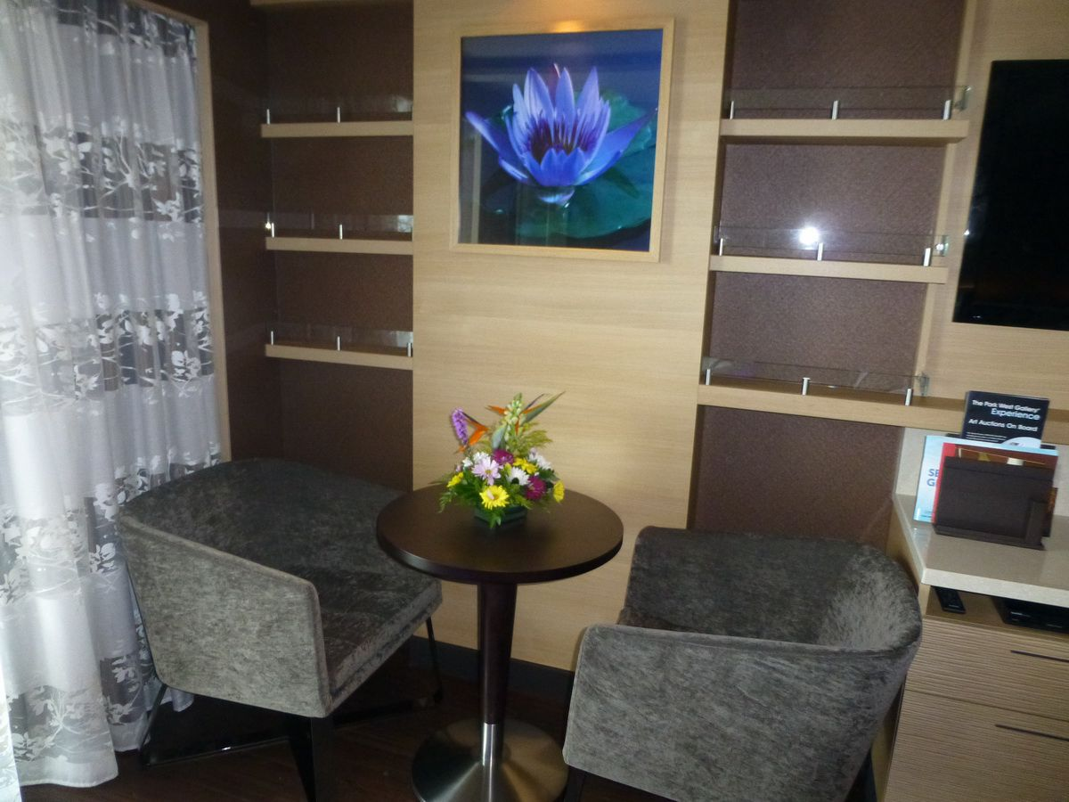Norwegian Breakaway Spa Suite Sitting Area