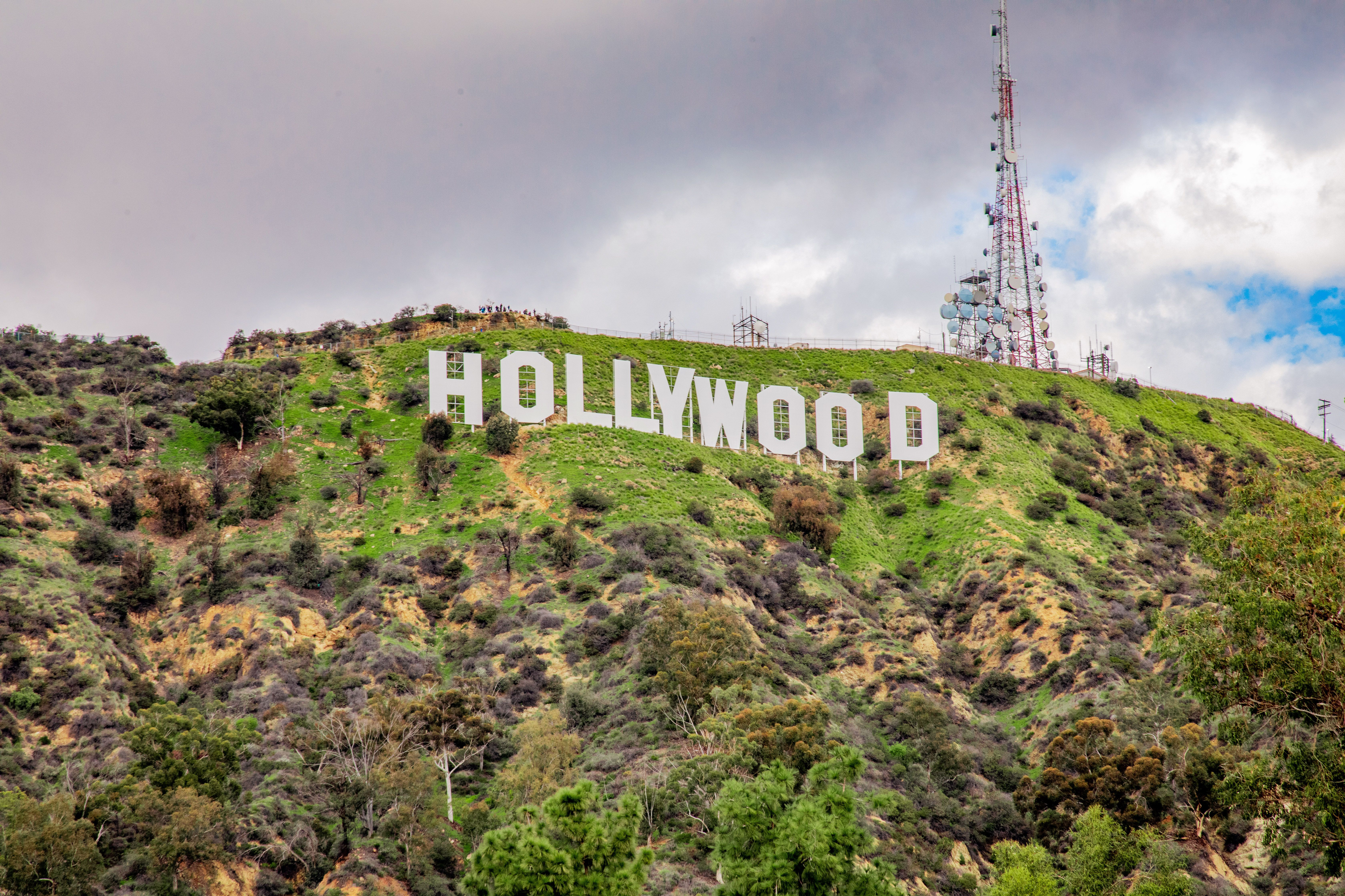 The Hollywood sign up on the hill