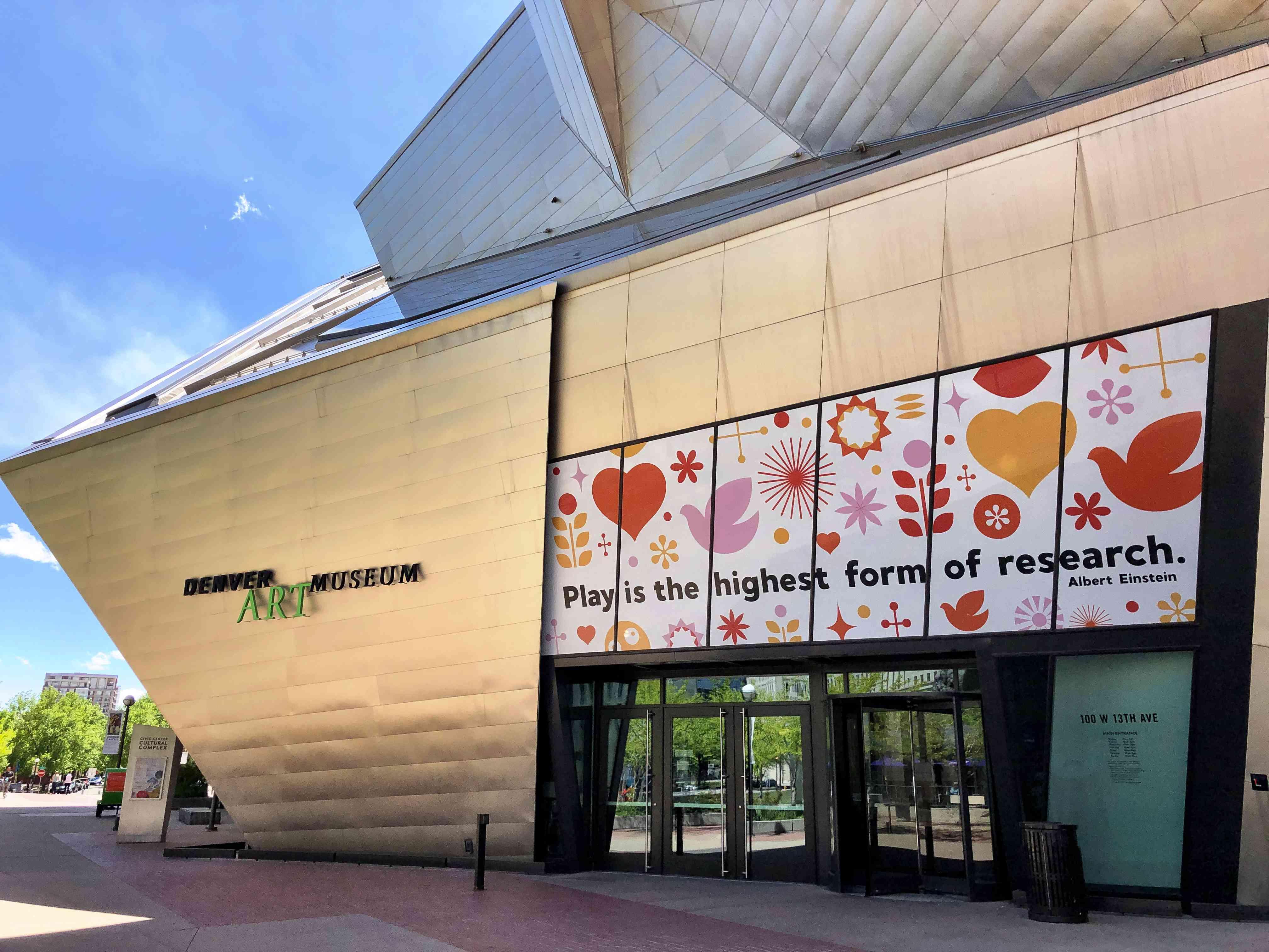 Entrance to the Denver Art Museum