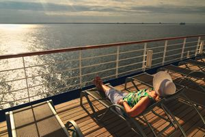 Woman relaxing on a cruise