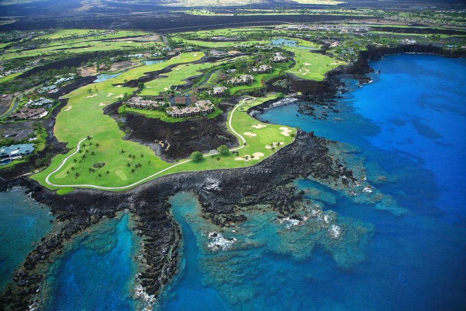 Campo de golf Waikoloa Resort, Vista aérea