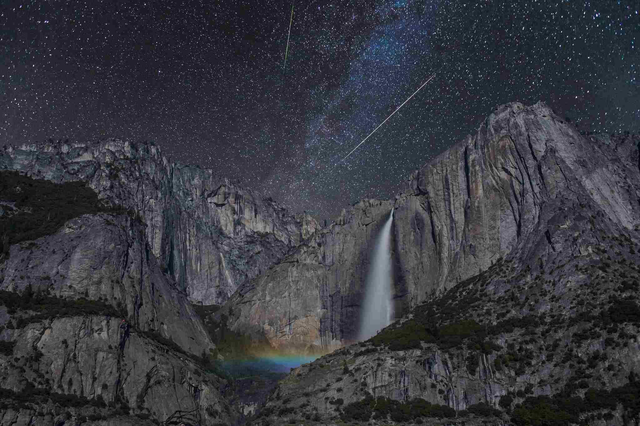 Meteor Shower Over Yosemite Falls