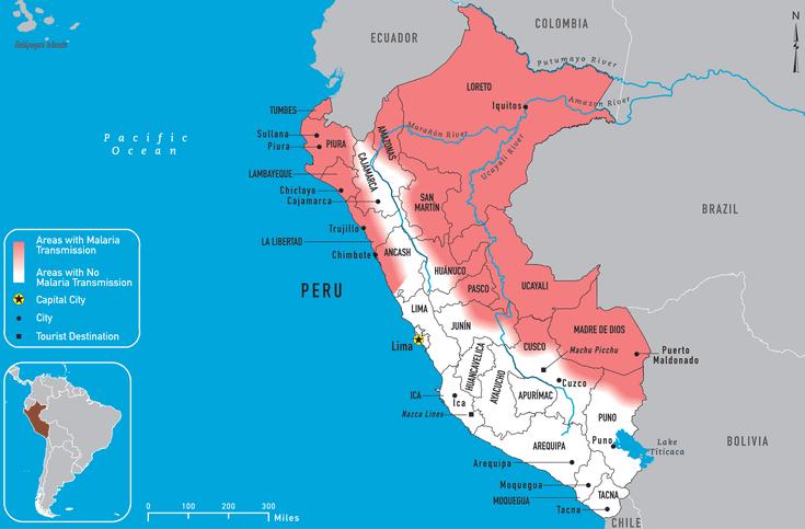 Malaria Maps of Peru: CDC, NHS and Peru\'s Ministry of Health