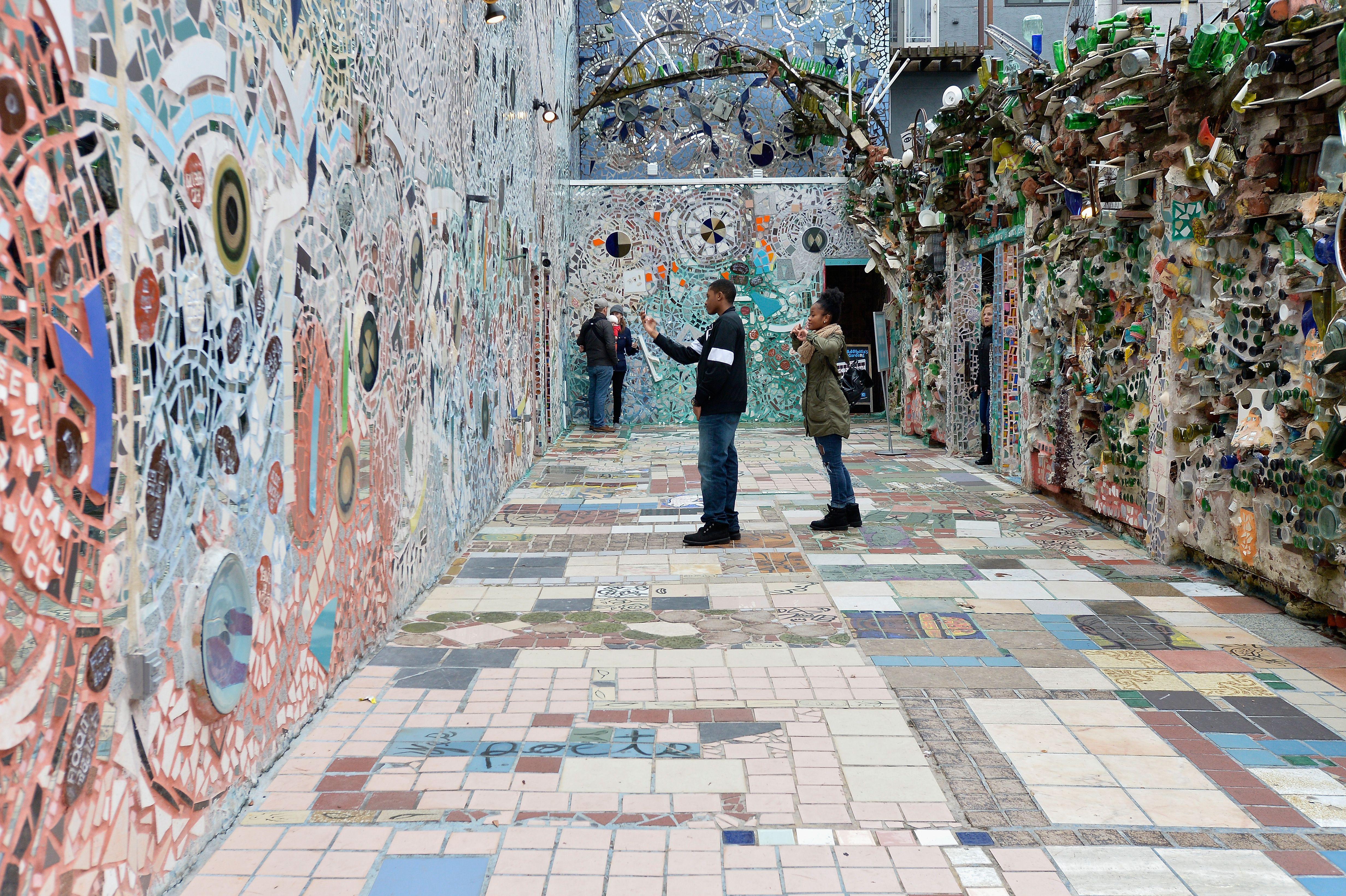Philadelphia's Magic Gardens by mosaic artist Isaiah Zagar