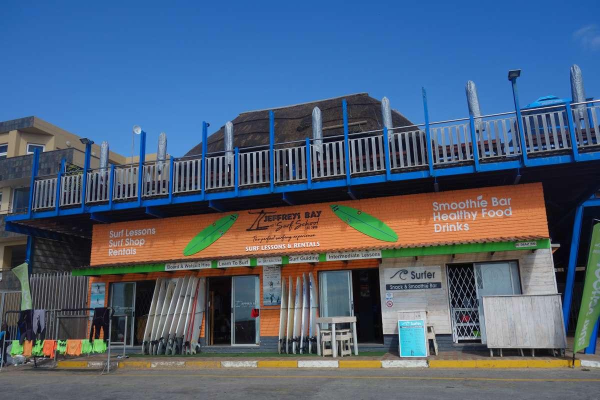 A surf shop in Jeffreys Bay