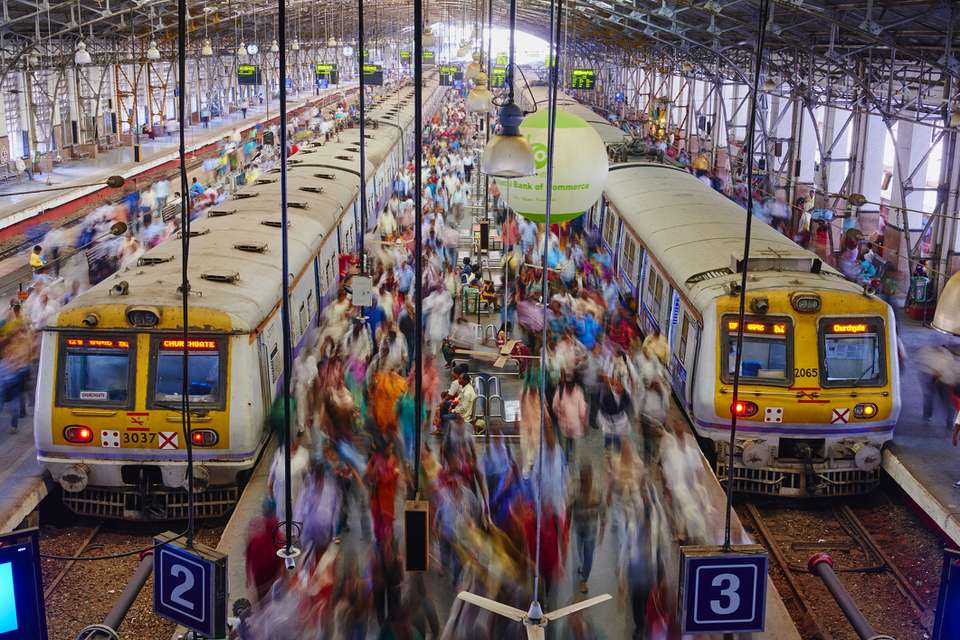 Mumbai, estación de trenes Victoria Terminus