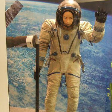 Female Cosmonaut Model at Star City Cosmonaut Training Center near Moscow
