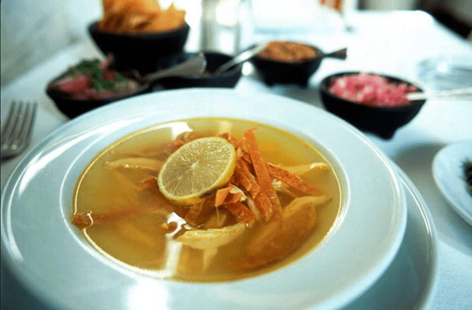 Sopa de Lima at Labná restaurant Cancun