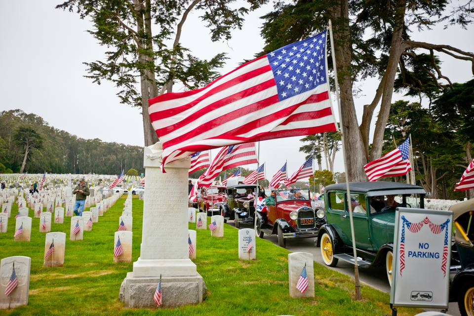 US Memorial Day Ceremony, The Presidio Cemetery,San Francisco