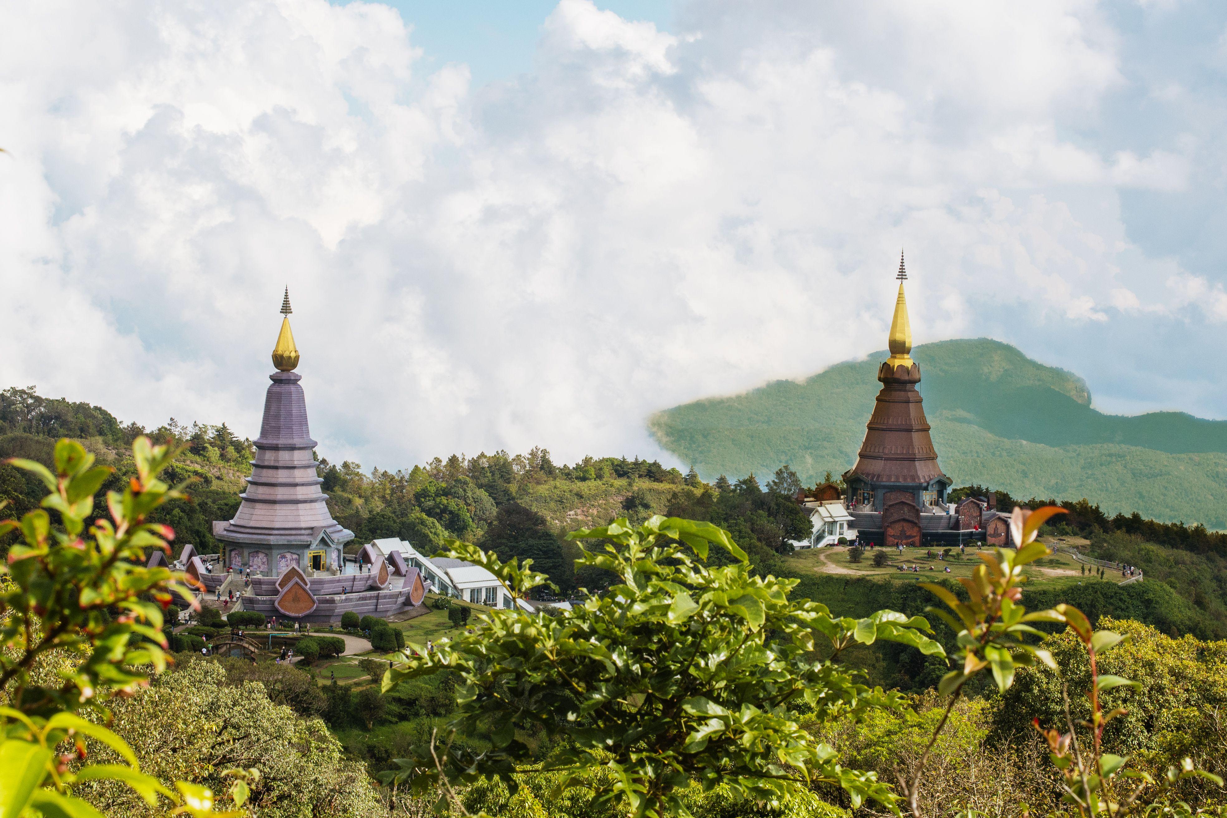 The royal pagodas at Doi Inthanon