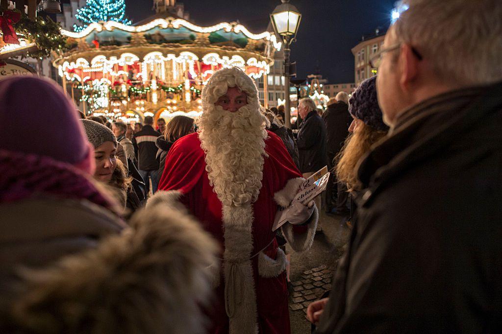 St. Nikolaus at a Berlin Christmas Market