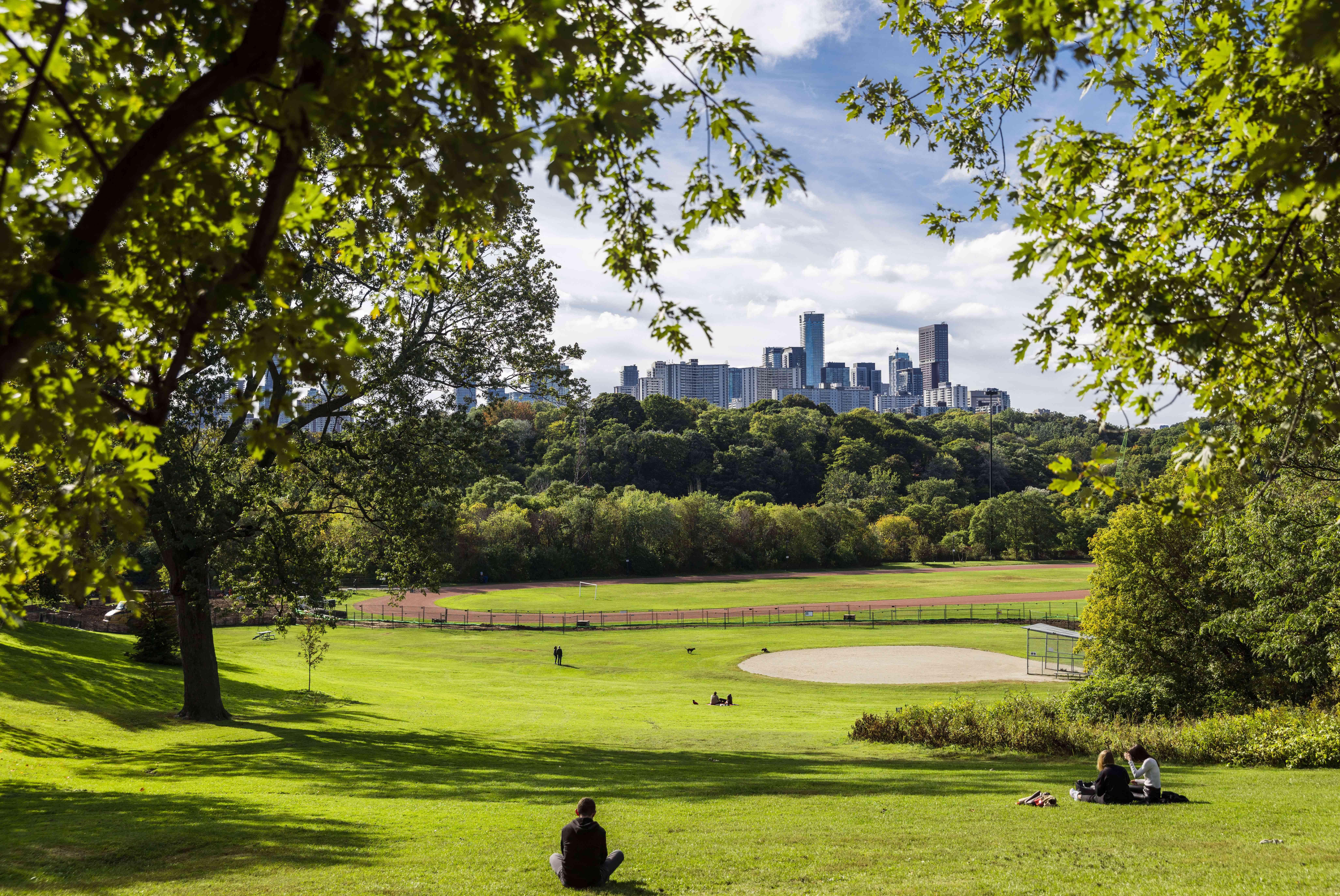 Riverdale Park in Toronto
