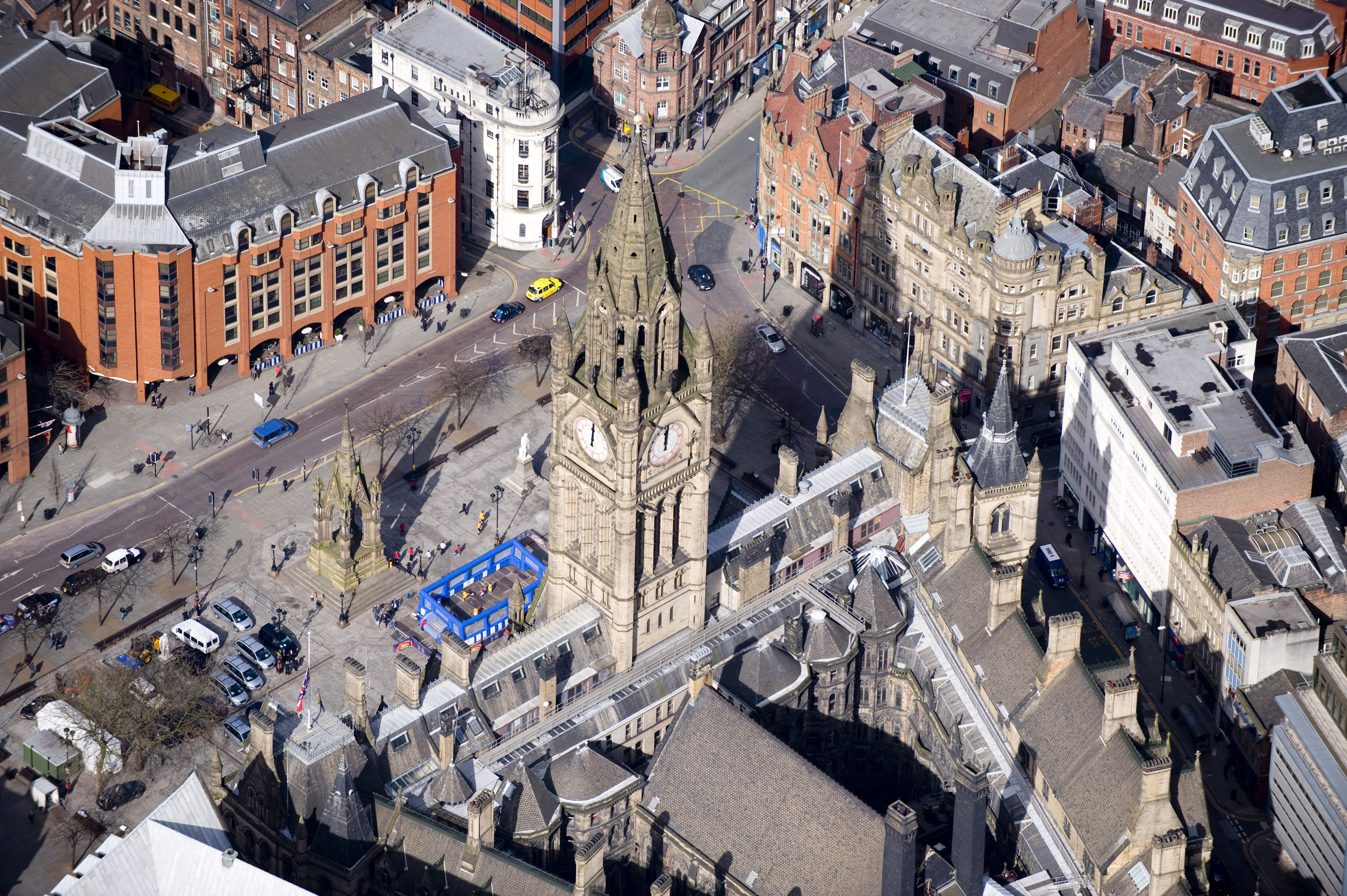 Overview of Manchester city center
