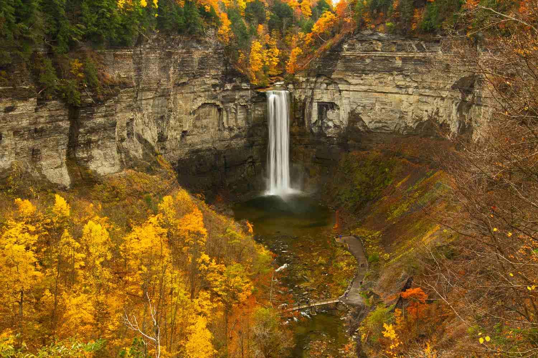 Ithaca Waterfall in the Fall