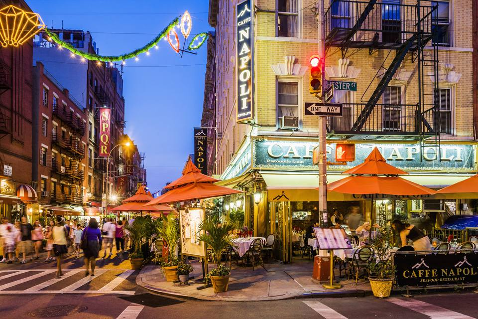 Little Italy, café restaurant in Mulberry street