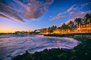 Alii Drive in the town of Kailua Kona, Hawaii