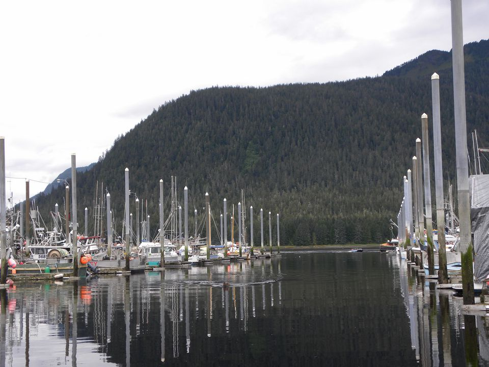 Petersburg Mountain on Kupreanof Island Overlooks the Petersburg Marina