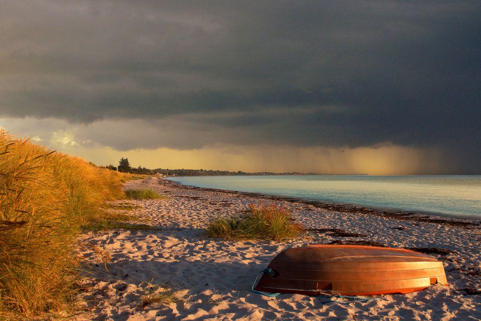 Abajo por el mar en Skagen Dinamarca