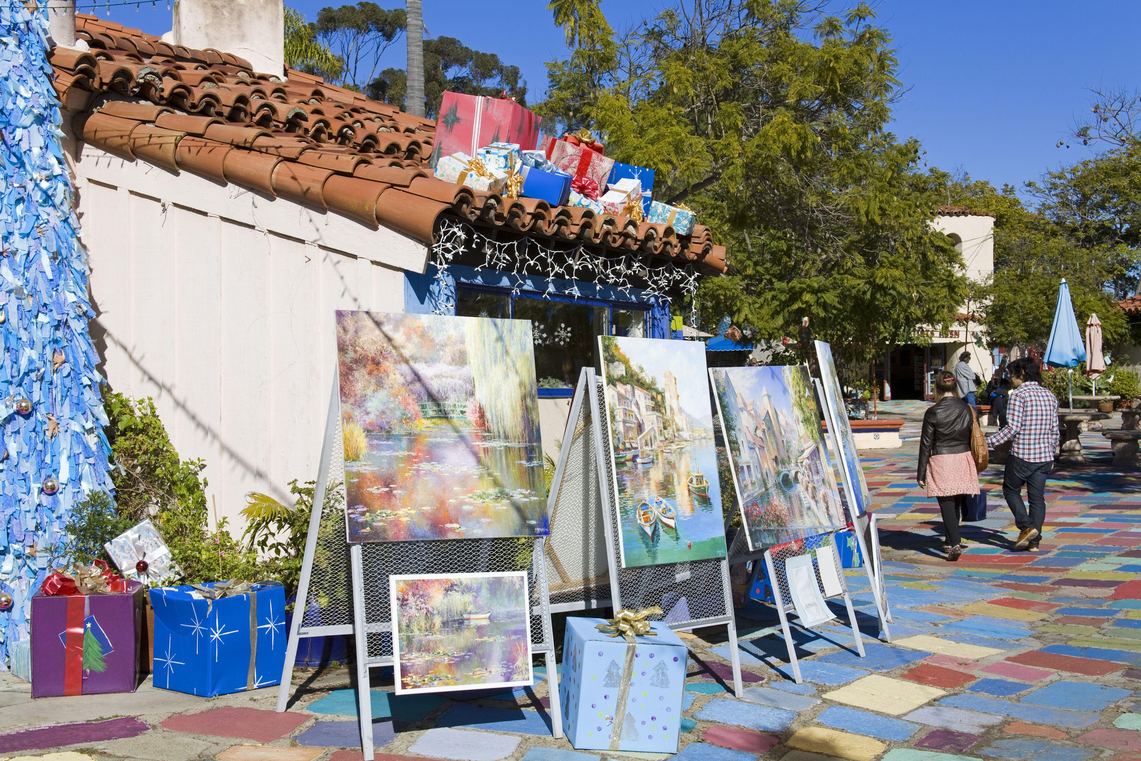 Spanish Village Art Center in Balboa Park, San Diego
