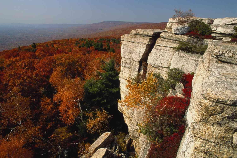 New York's Shawangunk Mountains in the Fall