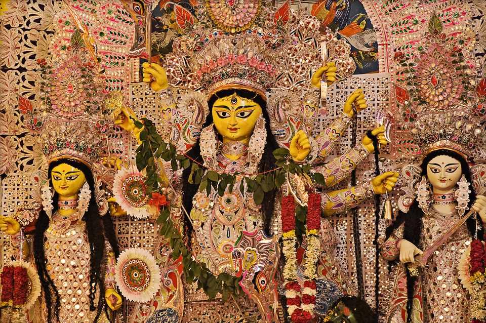 Los ídolos de Durga Puja.